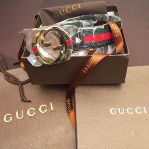 Gold Buckle Gucci Belt